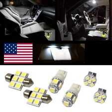 6 White LED interior lights package T10 & 31mm map dome + license plate lamp G1W