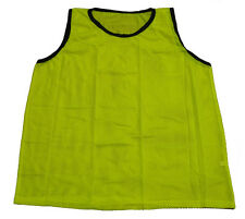 NEW YELLOW SCRIMMAGE VEST (YOUTH) CHEAP SINGLE SOCCER PINNIE MESH BIB PRACTICE