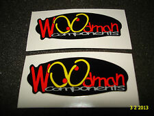 2 AUTHENTIC WOODMAN COMPONENTS STICKERS / DECALS / AUFKLEBER