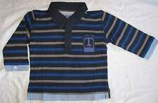 TIMBERLAND Designer Baby Boys Long Sleeve Striped Polo T-Shirt - New