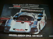 Spice engineering group C2 1985 gordon spice ray bellm autosport poster affiche