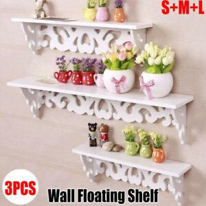 3X Wall Floating Shelf Shabby Chic Shelves Bookshelf Home Shop Display Decor NEW