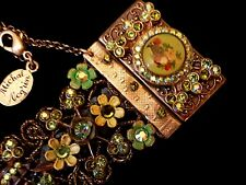 Michal Negrin  Romantic Wide Flowers Bracelet - New