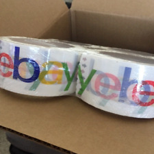 New 12 Rolls Colored eBay Brand Logo Shipping Packing Tape