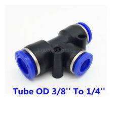 5pcs Pneumatic Reduced Tee Union Push In Fitting Tube OD 3/8 To OD 1/4 One Touch