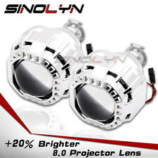 Upgrade 8.0 Square Shrouds Bi xenon HID Projector Lens for Headlights 2.5'' H1