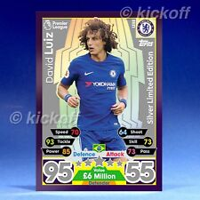Match Attax 2017-2018: David Luiz SILVER Limited Edition. LE8S. New. Chelsea