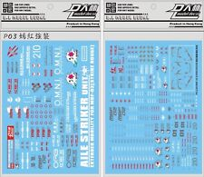 US Seller P03 PG 1/60 Strike Rouge Gundam Gunpla D.L Dalin Waterslide decal