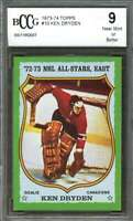 1973-74 topps #10 KEN DRYDEN montreal canadiens BGS BCCG 9