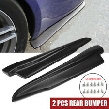 2Pcs Universal 52CM Black Rear Bumper Lip Diffuser Splitter Canard Body