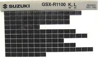 Suzuki GSXR GSX-R1100 1989 1990 Parts Microfiche s449