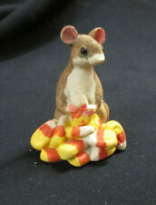 """Realistic Mouse Nibbling Candy Corn Figure 3"""" Unknown Brand Vg Condition"""