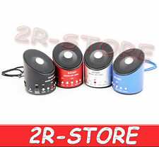 MINI CASSA WS-139RC SPEAKER PORTATILE REGISTRATORE RADIO FM MICRO SD PC MP3 USB
