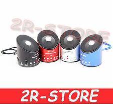 MINI CASSA WS-139RC SPEAKER PORTATILE REGISTRATORE RADIO FM MICRO SD PC MP3 USB