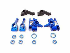 TRAXXAS SLASH PLATINUM EDITION 4x4 BLUE ALUMINUM KNUCKLES AXLE CARRIERS BLOCKS