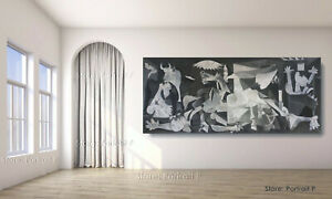 Pablo Picasso Oil Painting Guernica Hand-Painted Canvas Museum Quality 36x80 in