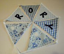 Personalised Name Bunting Boys Blue Nursery, £1.25 PER FLAG