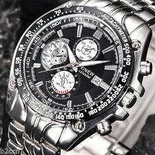 Men's Luxury Military Stainless Steel Analog Date Quartz Sports Wrist Watch New