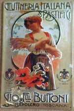 Blechschild Clutineria Italiana Pastifici Toscana Italien Schild retro Werbung