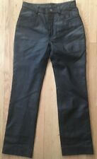 Harley Davidson Leather Motorcycle Pants Women's 6 34W Black Lined Soft