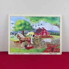 Melissa & Doug Wooden JigsAw Tray Puzzle Animals On The Farm 24 Pieces Ages 3+