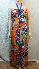NEW Womens BCBG Max Azria Beaded Colorful Formal Maxi Halter Gown Dress 6 NWT