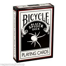 Black Spider Bicycle Playing Cards Poker Size Deck USPCC + Magic Trick Gimmicks