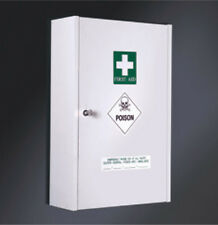 NEW - Rifco 600x395 Lockable First Aid Cabinet White 264