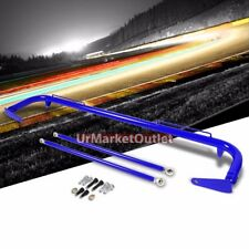 "Blue Mild Steel 49"" Racing Safety Chassis Seat Belt Harness Bar/Across Tie Rod"