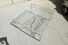 Table basse de salon, fer et verre