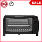 4 Slice Black Toaster Oven with Dishwasher-Safe Rack & Pan, 3 Piece, FREESHIPING photo