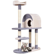 "48"" Cat Tree Kitten Activity Tower Furniture Condo w Perches Scratching Posts"