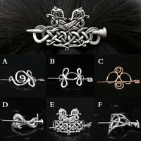 Women Hair Jewelry Celtics Knot Hairpin Hair Clips Metal Stick Slide Retro Clips