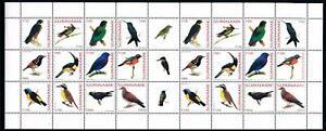 [SUV1181] Surinam 2003 Birds Vögel Ucelli Miniature sheet with labels MNH
