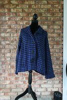 NWT Coldwater Creek Multicolored Long Sleeve Wool Jacket