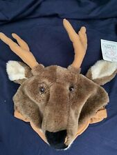 New Halloween Costume/Winter Plush Reindeer Hat/Cap by Deercap