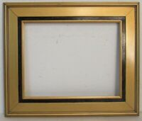 ART DECO GILDED / BLACK WOOD FRAME FOR PAINTING, PRINT , PHOTO 14 X 11 INCH