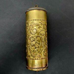 Antique/Vintage Clock Parts Brass Fancy Repousse Counterweight 3 Pounds