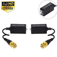 PAIR Balun BNC TO CAT5 CCTV Camera Video Power Adapter Cable For AHD HD TVI CVI