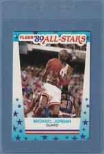 1989 FLEER STICKER  MICHAEL JORDAN #3 - CHICAGO BULLS - NM