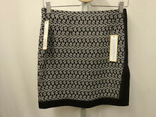 750€ MISSONI Designer Strick Rock Gr.34-36 I40 Skirt Wickeloptik Schwarz Creme