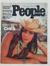 People Magazine Feb 10 1975 Cher Led Zeppelin King Hussein Mouseketeers Rumsfeld