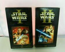 Star Wars I and Star Wars II VHS Tape The Phantom Menace / Attack of the Clones