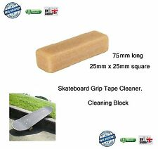 Skateboard Grip tape Cleaning Block 75 x 25 x 25mm rubber cleaner skate
