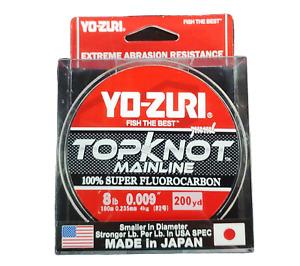 Yo-Zuri TKML8LBNCL200YD Topkot Fluorocarbon Line 8lb 200yd Clear Boxed