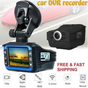 Car Portable Auto Radar Detector DVR Recorder Dash Cam Vehicle Anti Police Alert