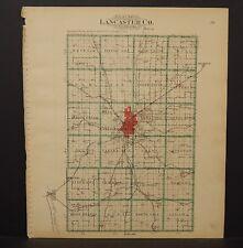Nebraska Lancaster County Map Dbl Side 1903  K17#19
