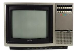 """Vintage Sony Trinition Color Gaming TV KV 1207 12"""" Wood Grain Tested Works Rare"""