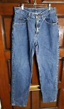 Men's Lee Jeans Straight Leg Denim blue sz 33 x 34 EUC Zipper Fly