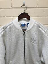Adidas Originals Ladies Jacket Coat Zip Up UK Size 12 BNWT Fleece Sherpa Bomber